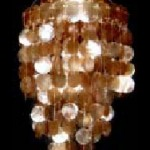 seashell chandelier pearlized